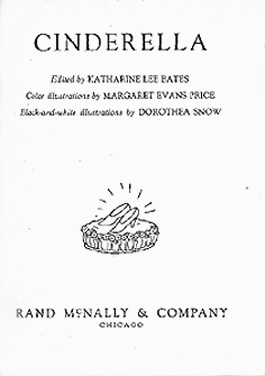 "Title page of ""Cinderella."""