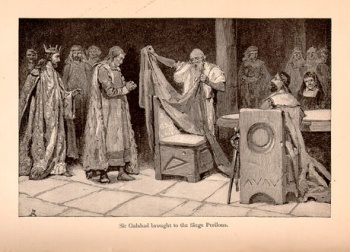Sir Galahad Brought to the Siege Perilous