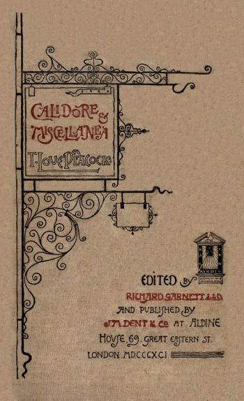 Calidore and Miscellanea