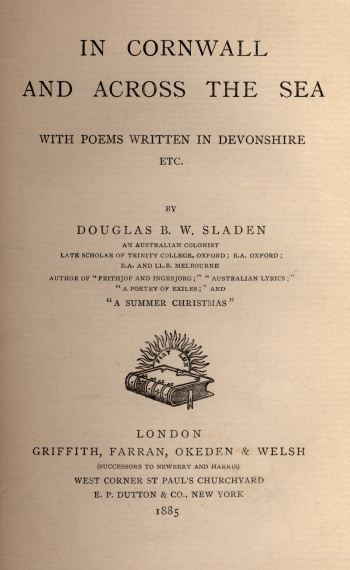 In Cornwall and across the Sea, with Poems Written in Devonshire