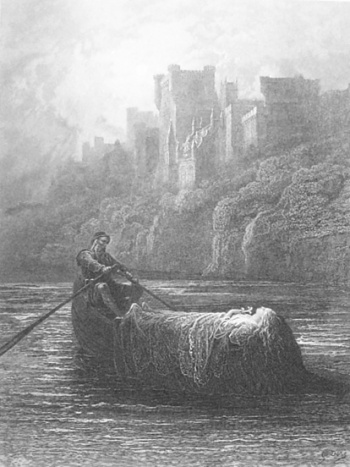 The Body of Elaine on Its Way to King Arthur's Palace