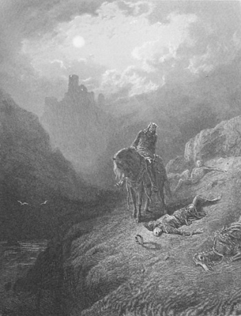 King Arthur Discovering the Skeletons of the Brothers