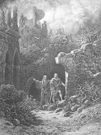 Yniol Shows Prince Geraint His Ruined Castle