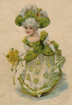"""Back cover depicting a young Cinderella"""