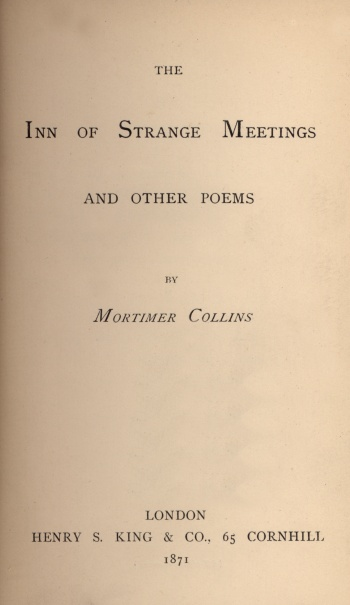 Inn of Strange Meetings and Other Poems, The
