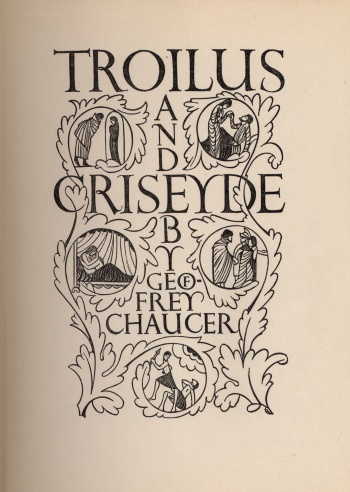 Troilus and Cressida: A Love Poem in Five Books