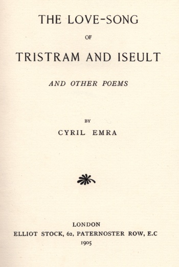 Love-Song of Tristram and Iseult and Other Poems, The