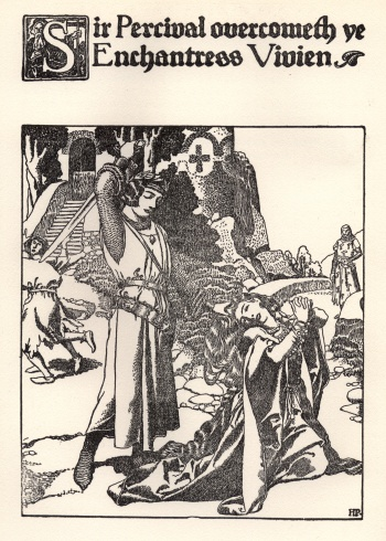 Sir Percival Overcometh the Enchantress Vivien