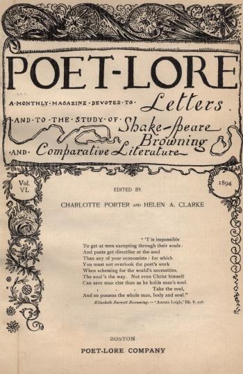 Poet-Lore