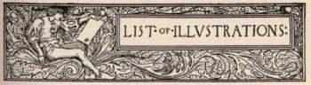 Headpiece--List of Illustrations