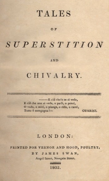 Tales of Superstition and Chivalry