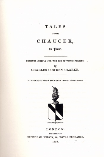 Tales from Chaucer in Prose. Designed Chiefly for the Use of Young Persons.