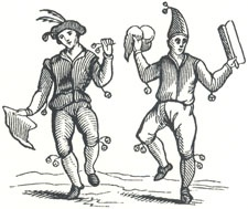 "Morris Dancers from Holme's ""Academy of Armory,"" 1683"