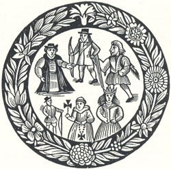 Robin Hood's Garland Woodcut [from Garland Title Page]