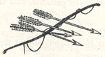 "Bow and Arrows, Tailpiece to ""Robin Hood and the Bishop"""