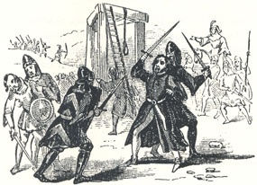 "Rescue at the Execution, Headpiece to ""Robin Hood's Rescuing Will Stutly"""