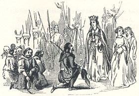 "Robin and his Companions Making Obeisance to the Queen, ""Robin Hood and Queen Katherine"""