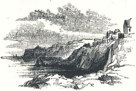"""View of Robin Hood's Bay Near Whitby, Yorkshire, Tailpiece to """"The Noble Fisher-man; or, Robin Hood's Preferment"""""""