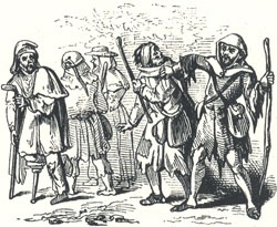 "Little John Encountering the Beggars, Headpiece to ""Little John and the Four Beggars"""