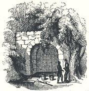 """View of St. Ann's Well, Headpiece to """"Robin Hood Rescuing the Three Squires from Nottingham Gallows"""""""