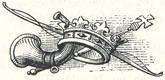 "Horn and Crown Still Life, Tailpiece to ""The King's Disguise, and Friendship with Robin Hood"""