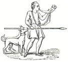 "Huntsman and his Dog, Tailpiece to ""The Song of Robin Hood and His Huntes-Men"""