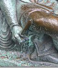 Detail of statuary in Nottingham (Valerie B. Johnson)