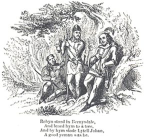 Illustrated by F. W. Fairholt, for John Mathew Gutch 'A Lytell Geste of Robin Hode' (1847)