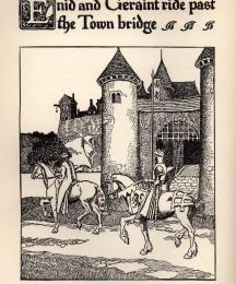 Enid and Geraint Ride Past the Town Bridge