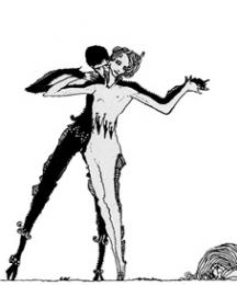 Illustration, implicit of the old dance, posited over the list of illustrations