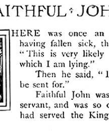 The King and Faithful John.