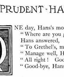 Prudent Hans, who listened well to his mother.