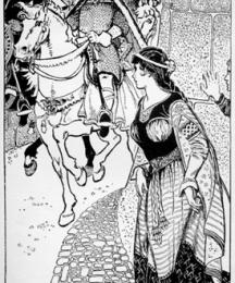 Guinevere Sees Arthur by the Castle Wall