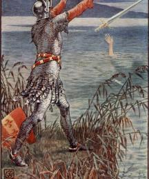 Sir Bedevere Casts the Sword Excalibur into the Lake