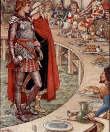 Sir Galahad is Brought to the Court of King Arthur
