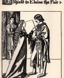 Sir Launcelot Confideth his Shield to Elaine the Fair