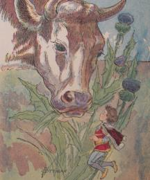 Cow Eating Thistle