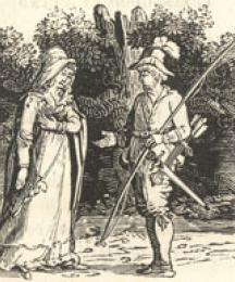 Robin Hood Rescuing The Widow's Three Sons From the Sheriff When Going To Be Executed