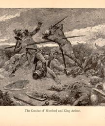 The Combat of Mordred and King Arthur
