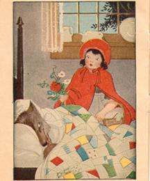 Red Riding Hood examines the appearance of Granny.