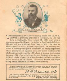 Introductory page with photograph of W.B. Caldwell and decorations.