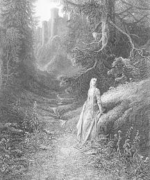 Elaine on Her Road to the Cave of Lancelot