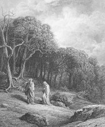 Vivien and Merlin Enter the Woods