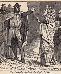 Sir Launcelot Receiveth the Pope's Letters