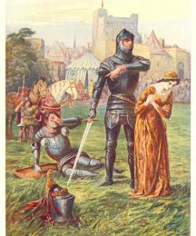 Lady, replied Sir Beaumains, a knight is little worth who may not bear with a damsel