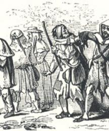 Little John Encountering the Beggars, Headpiece to Little John and the Four Beggars