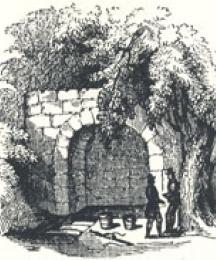View of St. Ann's Well, Headpiece to Robin Hood Rescuing the Three Squires from Nottingham Gallows
