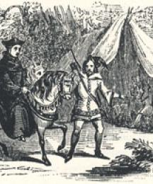 Robin Hood Conducting the King in Disguise to Barnesdale, Headpiece to The King's Disguise, and Friendship with Robin Hood