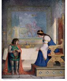 The lady Lyoness... had the dwarf in examination