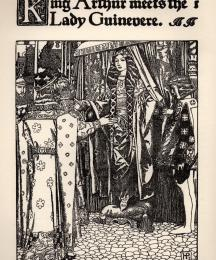 King Arthur meets the Lady Guinevere